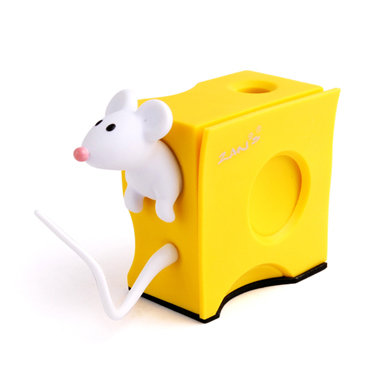 Mouse Cheese Business Card Holder Pen Stand Zans Global